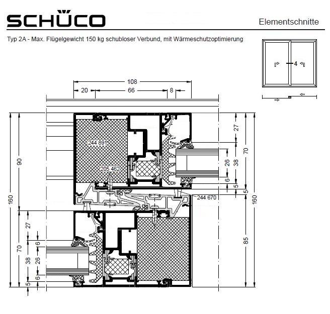 sch co ass 70 hi aluminium hebe schiebet r. Black Bedroom Furniture Sets. Home Design Ideas