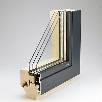 Holz alu fenster vorteile  Holz-Alu-Fenster Contour FB NG - fächenbündige eckige Alu-Optik